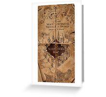 Harry Potter - Marauders Map Greeting Card
