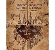 Harry Potter - Marauders Map by rosesandvervain