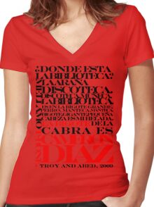 Troy and Abed Women's Fitted V-Neck T-Shirt