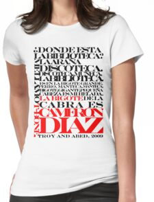 Troy and Abed Womens Fitted T-Shirt