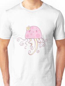 Girly Pink Jellyfish Unisex T-Shirt