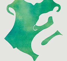 Slytherin Watercolor by whoviandrea