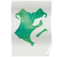 Slytherin Watercolor Poster