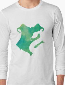 Slytherin Watercolor Long Sleeve T-Shirt