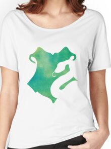 Slytherin Watercolor Women's Relaxed Fit T-Shirt