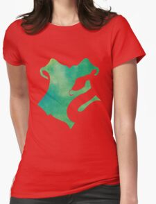 Slytherin Watercolor Womens Fitted T-Shirt