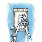 Burlesque: Blue - iPhone Case by jeffpina78