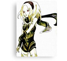 Gravity Rush - Kat watercolour and ink Canvas Print