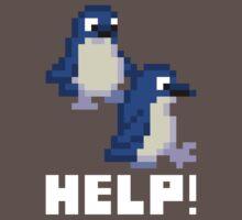 Help! Save the Penguins Cute Pixel Art Shirt (Dark) Kids Clothes