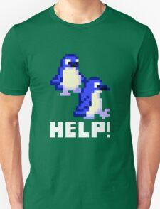 Help! Save the Penguins Cute Pixel Art Shirt (Dark) Unisex T-Shirt