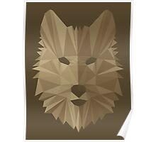Wolf Cubism Poster