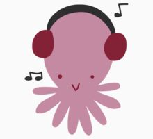 Pink Headphones Octopus by SaradaBoru