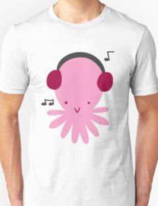 Pink Headphones Octopus Unisex T-Shirt