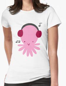 Pink Headphones Octopus T-Shirt