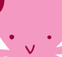 Pink Headphones Octopus Sticker