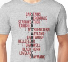 Shadowhunter Family Names Unisex T-Shirt