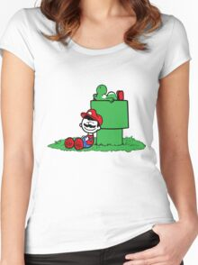 a boy and his dino Women's Fitted Scoop T-Shirt