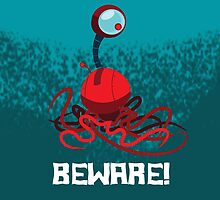 BEWARE! EYEBALL MONSTER! iPhone Case by jeffpina78