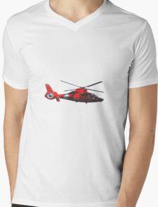 USCG helicopter Mens V-Neck T-Shirt