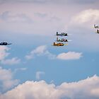A Colorful Flyover... by Drew Robinson