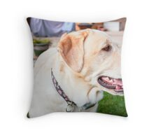 The Puppy Pose Throw Pillow
