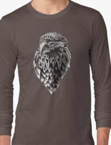 Ornate Tribal Shaman Eagle Print Long Sleeve T-Shirt