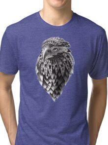 Ornate Tribal Shaman Eagle Print Tri-blend T-Shirt