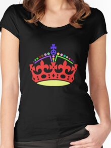 A Rainbow Crown Women's Fitted Scoop T-Shirt