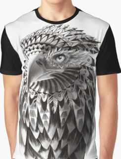 Ornate Tribal Shaman Eagle Print Graphic T-Shirt