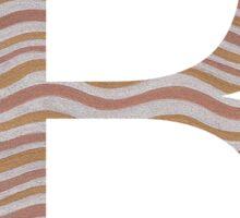 Letter B Metallic Look Stripes Silver Gold Copper Sticker