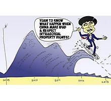 iPad surfer Hu Jintao political cartoon Photographic Print