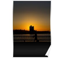 Sunset, Massachusetts avenue Poster