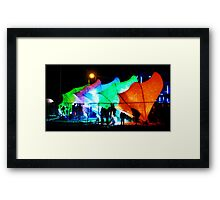 Lux City Framed Print