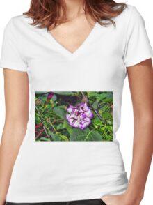 Purple Power Wrinkle Women's Fitted V-Neck T-Shirt