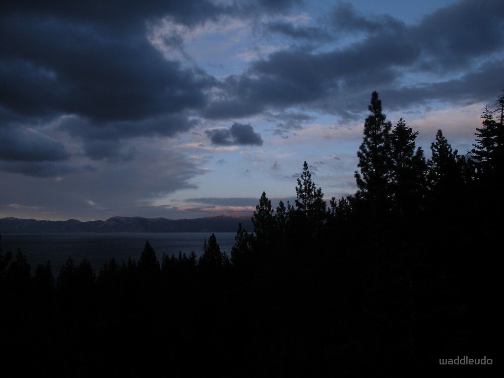 Storm Clouds Gather Over Lake Tahoe by waddleudo