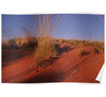 Red Center Desert Dune Poster