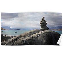 Rock tower, Lake Tekapo Poster