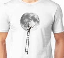 MOONSHINE black and white illustration and silhouette Unisex T-Shirt