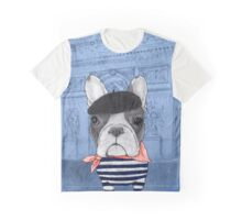 Frenchie With Arc de Triomphe Graphic T-Shirt