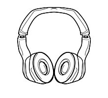 Headphones Photographic Print