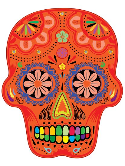Sugar skulls for the day of the dead by nadil