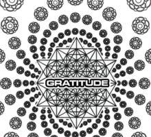 Gratitude Crop Circle Metatron Vortex 22 - oct 2012 Sticker