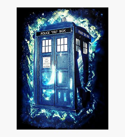Dr Who Tardis - British Police Box Lost In Space Photographic Print