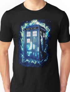 Dr Who Tardis - British Police Box Lost In Space Unisex T-Shirt
