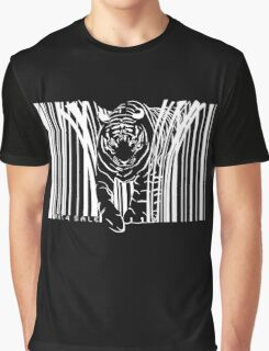 WHITE TIGER BARCODE  Graphic T-Shirt