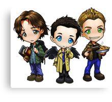 Supernatural cartoon trio Canvas Print