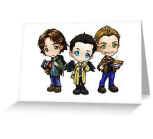 Supernatural cartoon trio Greeting Card