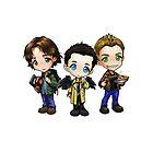 Supernatural cartoon trio by Winkham