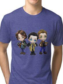 Supernatural cartoon trio Tri-blend T-Shirt