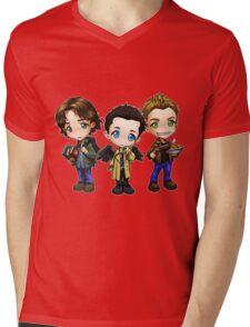 Supernatural cartoon trio Mens V-Neck T-Shirt